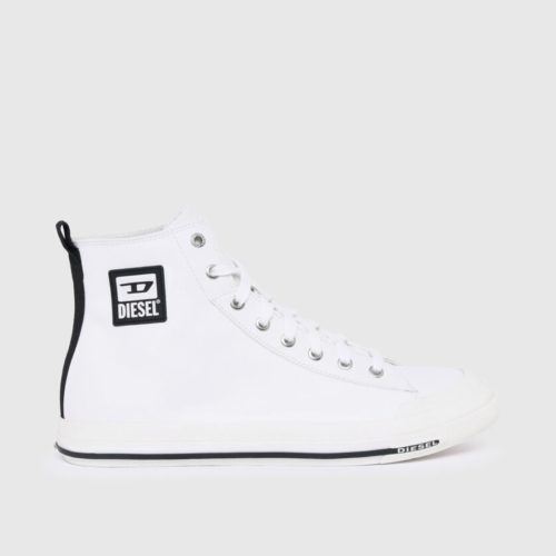 DIESEL S ASTICO MID CUT WHITE SMOOTH LEATHER 1
