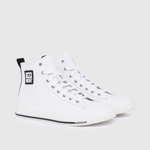 DIESEL S ASTICO MID CUT WHITE SMOOTH LEATHER 2